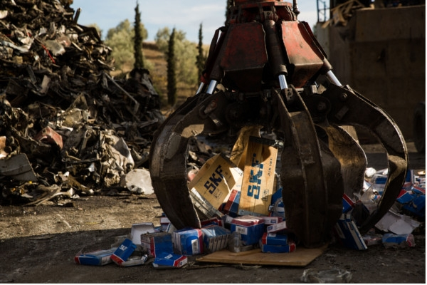 SKF DESTROYED 15 TONS OF FAKE BEARINGS